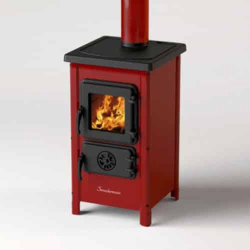 Печка на дърва MBS Happy, червена